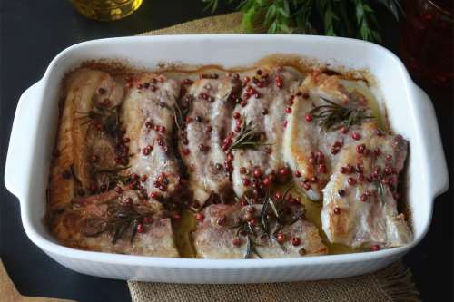Secondi piatti ricette Costine al forno
