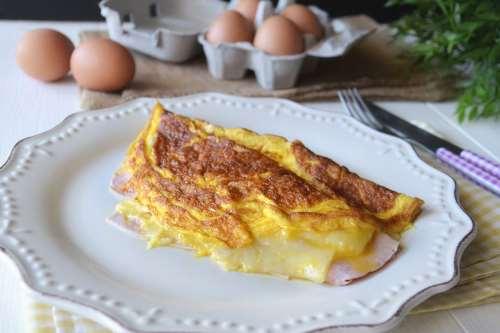 ricette Omelette al prosciutto
