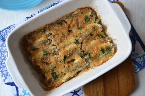 Secondi piatti ricette Tortino di alici e carciofi