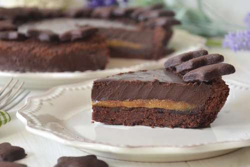 Ricette Crostate Crostata caramello salato e cioccolato