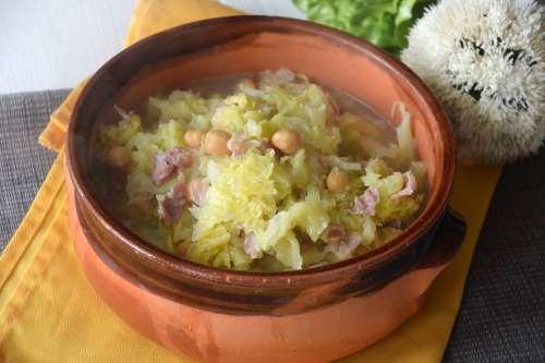 Ricette  Zuppa di ceci e verza