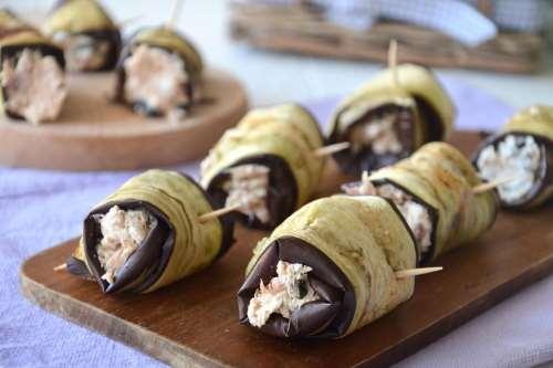 Ricette  Involtini di melanzane e tonno