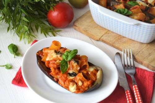 ricette Melanzane ripiene di pasta