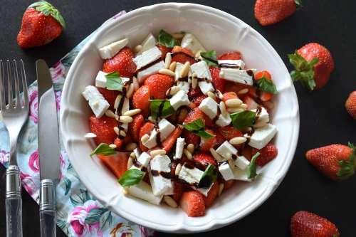 Ricette ricette Insalata di fragole e feta