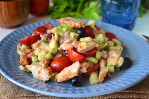 Ricette Insalate Insalata di pollo alla greca