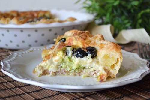 ricette Torta salata con tonno e zucchine