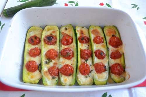 ricette Zucchine ripiene vegetariane
