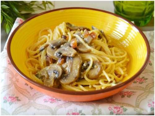 Ricette  Carbonara con i funghi