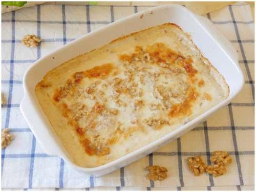 Crepes ai 4 formaggi e noci