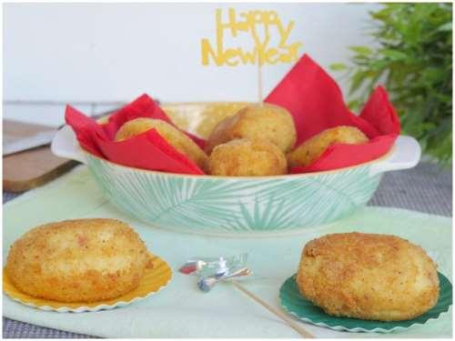 Ricette Antipasti sfiziosi Crocchette di patate con cuore di cotechino